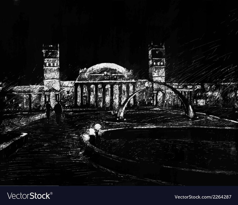 Night cityscape vector | Price: 1 Credit (USD $1)