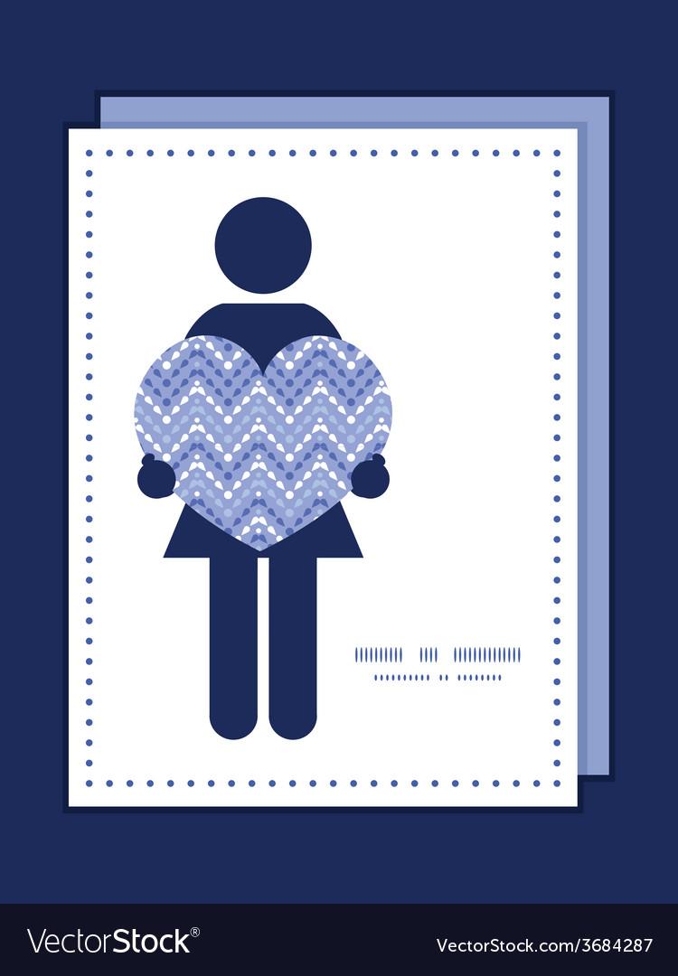 Purple drops chevron woman in love silhouette vector | Price: 1 Credit (USD $1)
