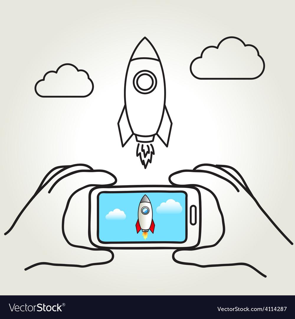 Rocket shot vector | Price: 1 Credit (USD $1)