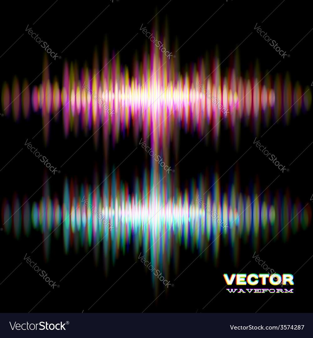 Shiny stereo sound waveform vector | Price: 1 Credit (USD $1)