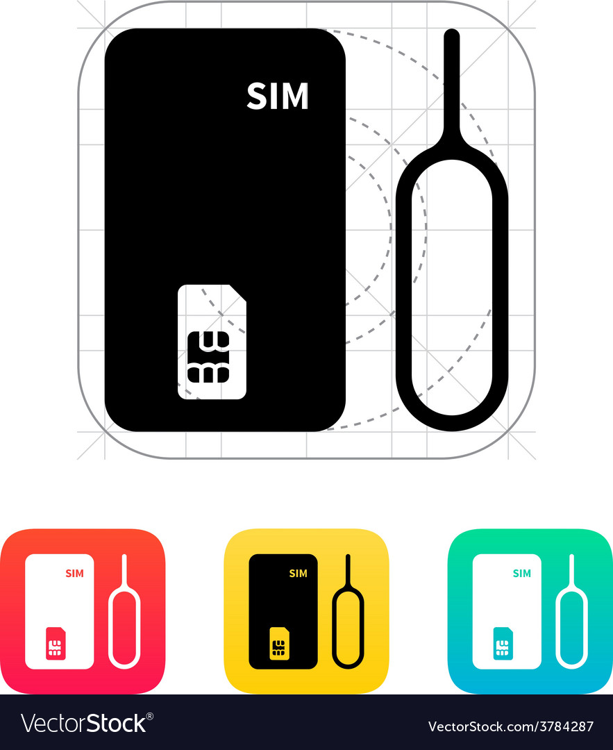 Standard sim icon vector | Price: 1 Credit (USD $1)