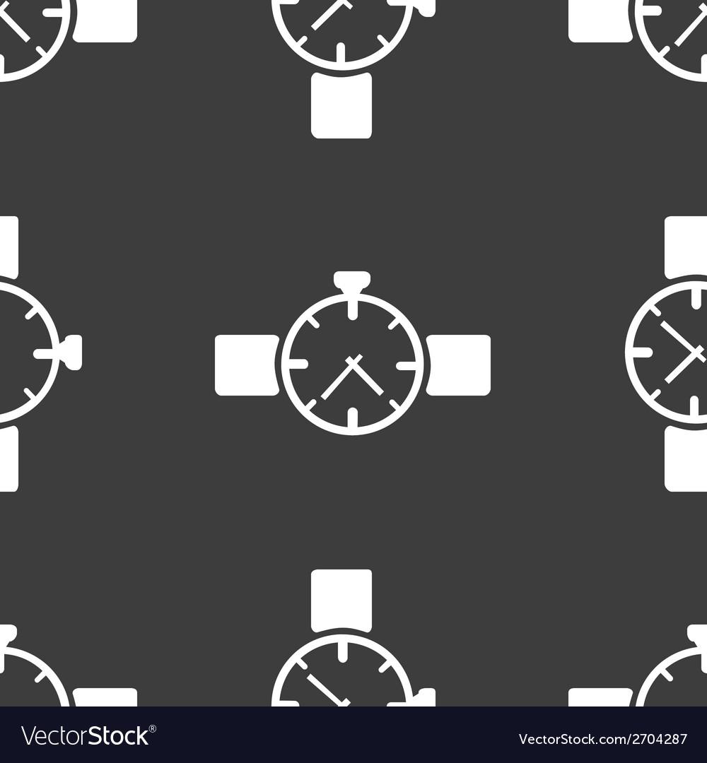 Watchclock web icon flat design seamless gray vector   Price: 1 Credit (USD $1)