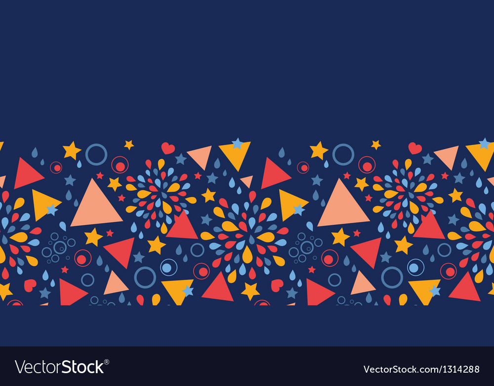 Abstract celebration horizontal seamless pattern vector | Price: 1 Credit (USD $1)