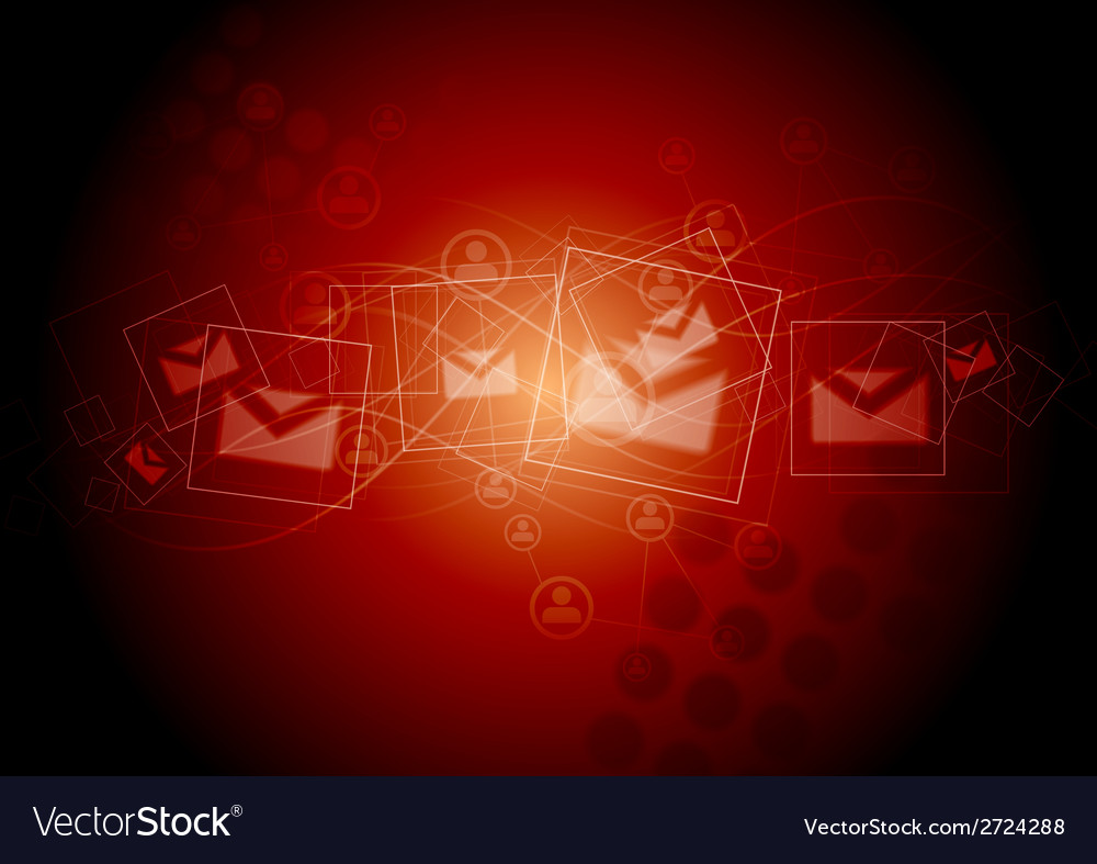 Abstract technology red background vector | Price: 1 Credit (USD $1)