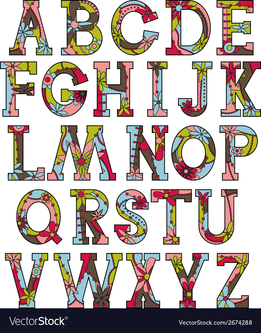 Alphabet in christmas colors vector | Price: 1 Credit (USD $1)