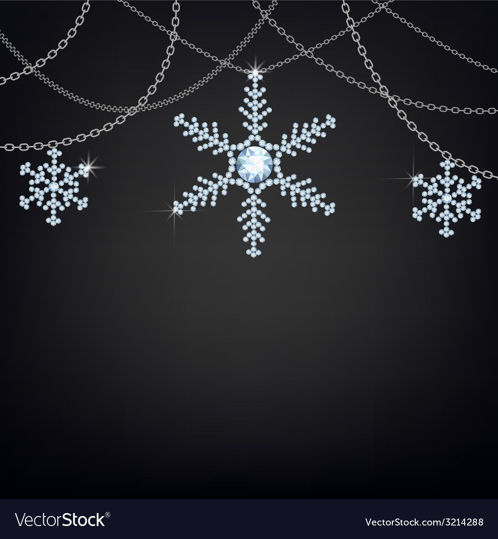 Backgound with snowflakes vector