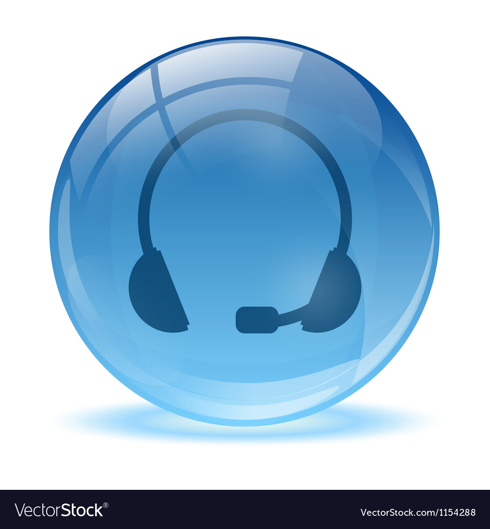 Blue abstract 3d headset icon vector | Price: 1 Credit (USD $1)