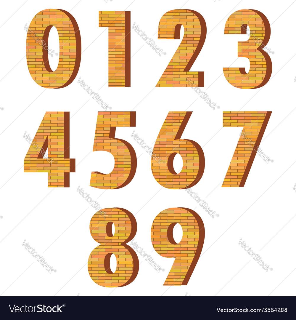 Brick numbers vector | Price: 3 Credit (USD $3)