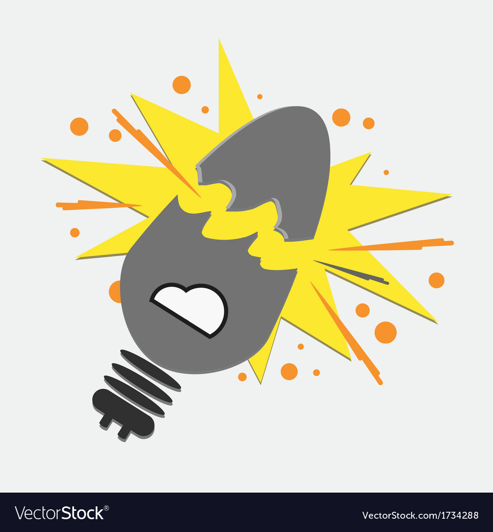 Broken light bulb vector | Price: 1 Credit (USD $1)