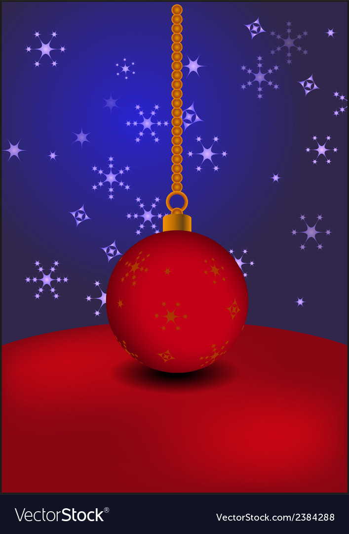 Christmas ball on abstract background vector | Price: 1 Credit (USD $1)