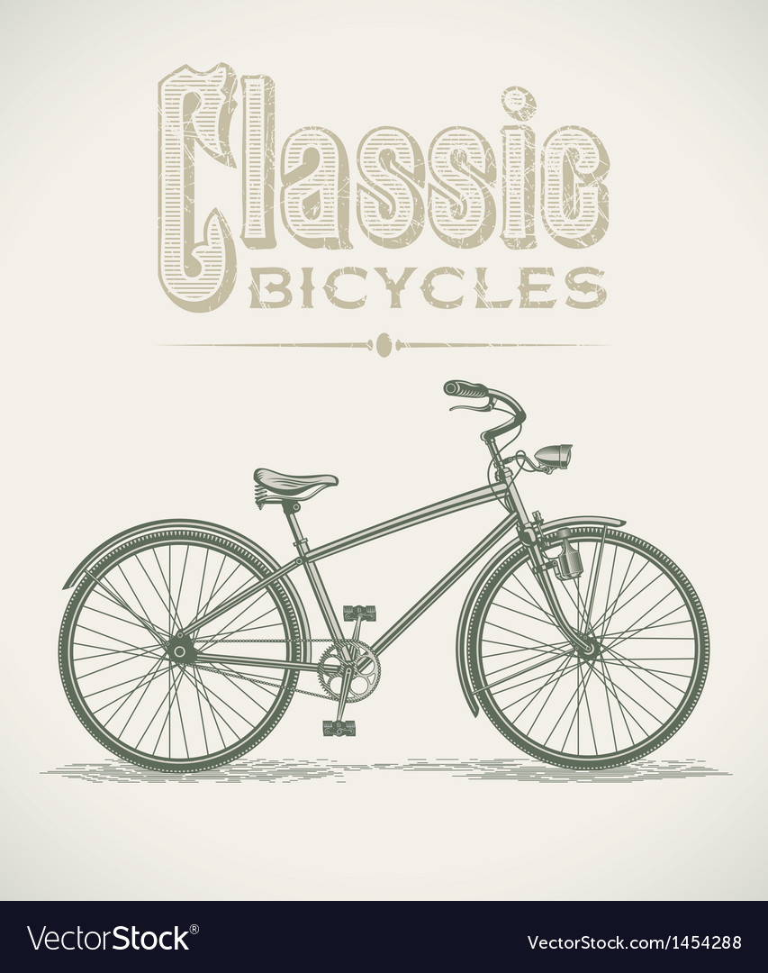 Classic cruiser bicycle vector | Price: 1 Credit (USD $1)