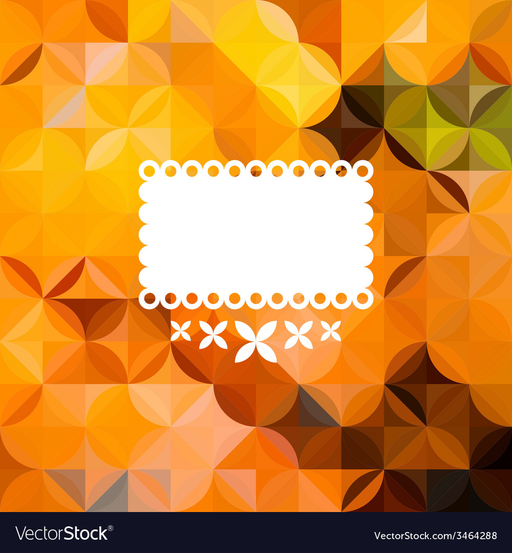 Colorful abstract triangular orange pattern vector | Price: 1 Credit (USD $1)