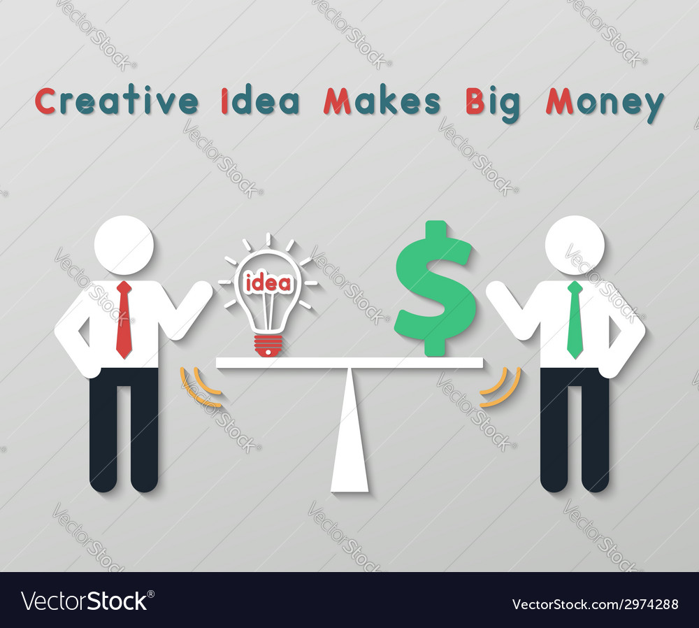 Creative idea business concept vector | Price: 1 Credit (USD $1)