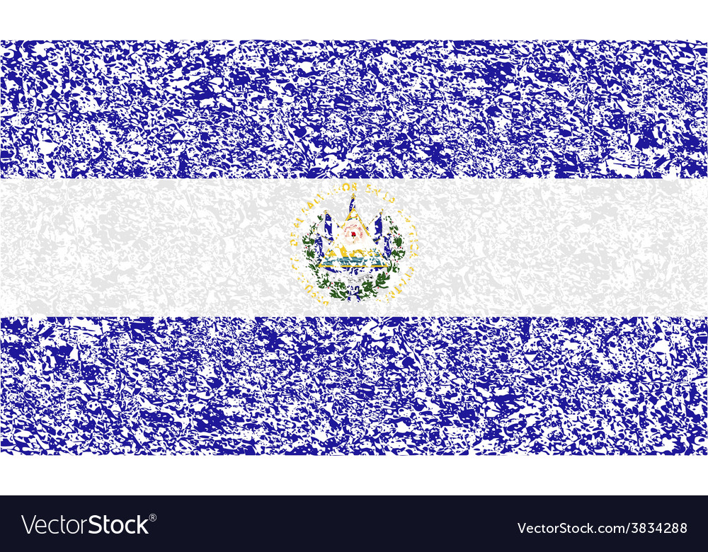 Flag of el salvador with old texture vector | Price: 1 Credit (USD $1)