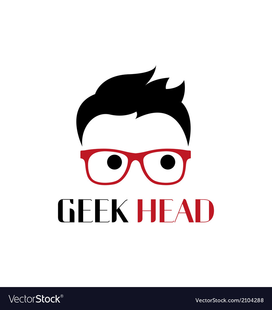 Geek head logo template vector | Price: 1 Credit (USD $1)