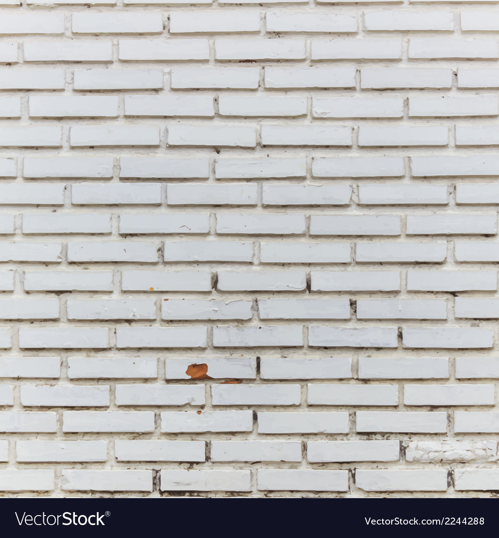 Interior room with white brick wall and floor vector | Price: 1 Credit (USD $1)
