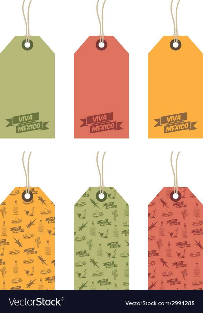 Mexican tags vector | Price: 1 Credit (USD $1)