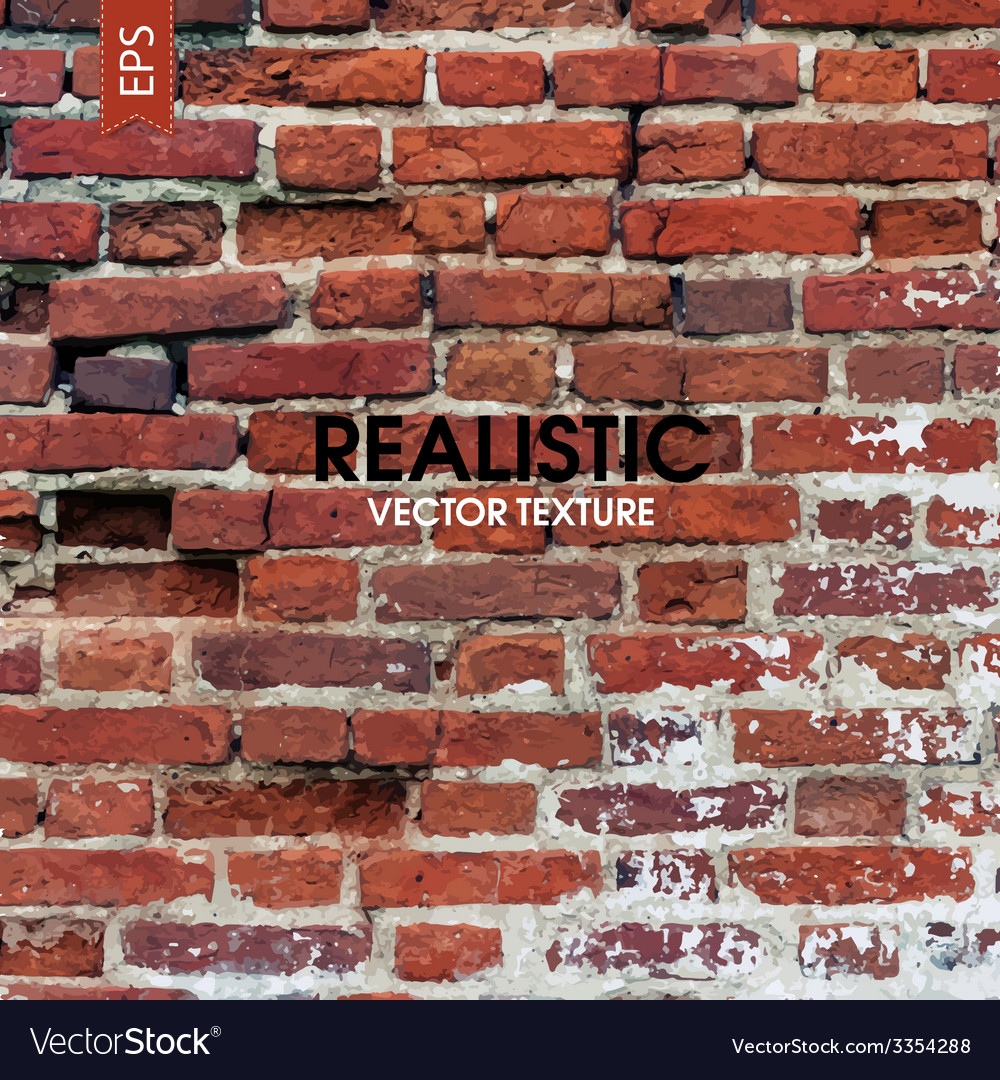 Red brick wall aged texture vector | Price: 1 Credit (USD $1)