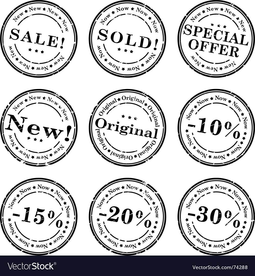 Sale stamp set vector | Price: 1 Credit (USD $1)