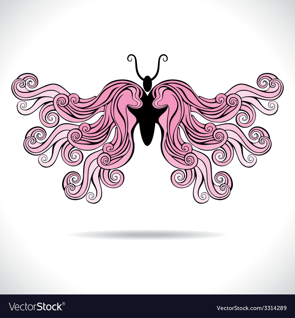 Abstract colorful butterfly vector   Price: 1 Credit (USD $1)