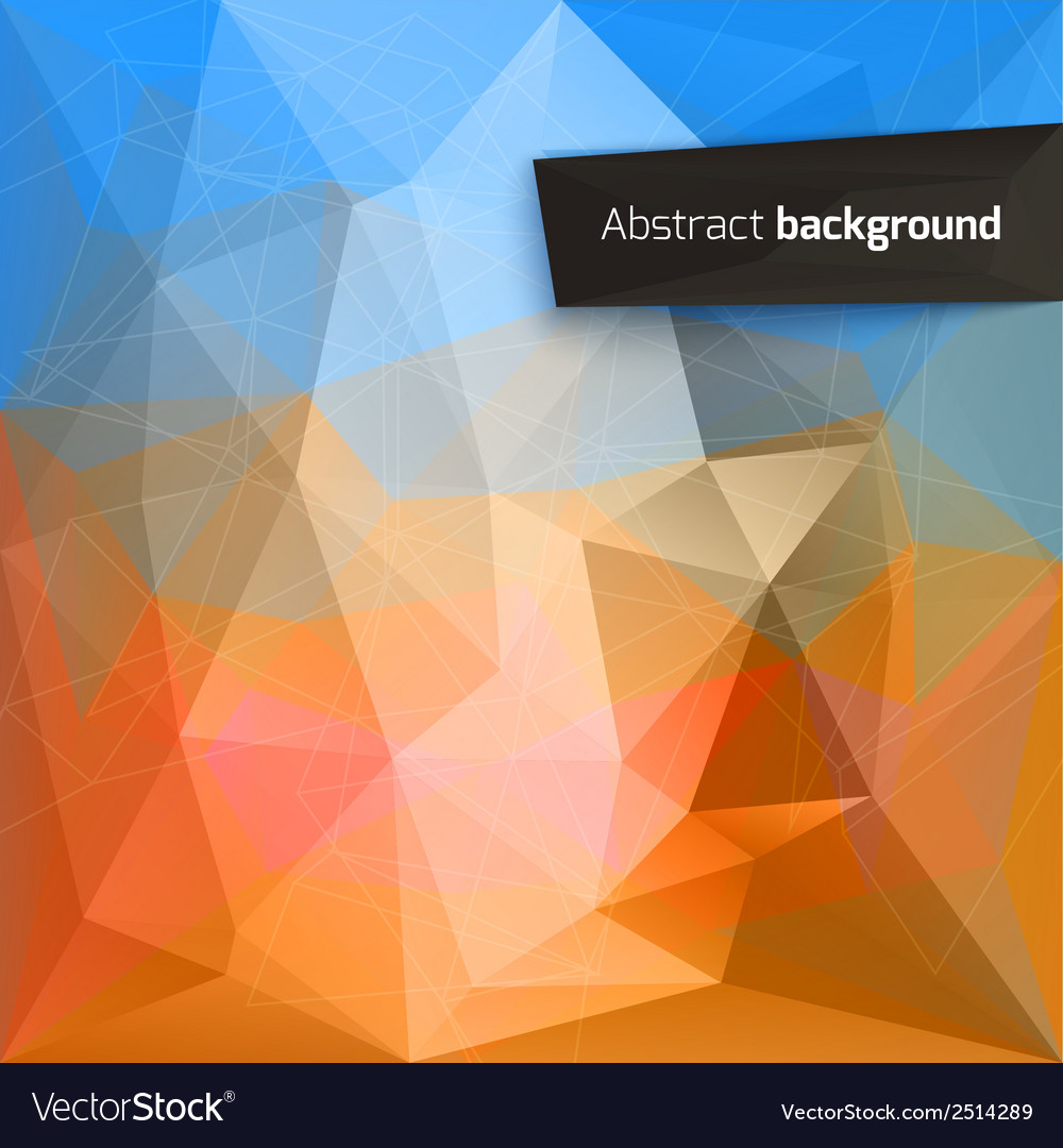 Abstract triangle backgrounds vector | Price: 1 Credit (USD $1)