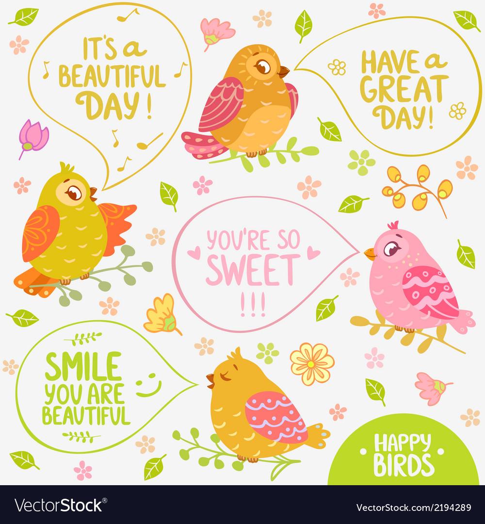 Birds speech vector | Price: 1 Credit (USD $1)
