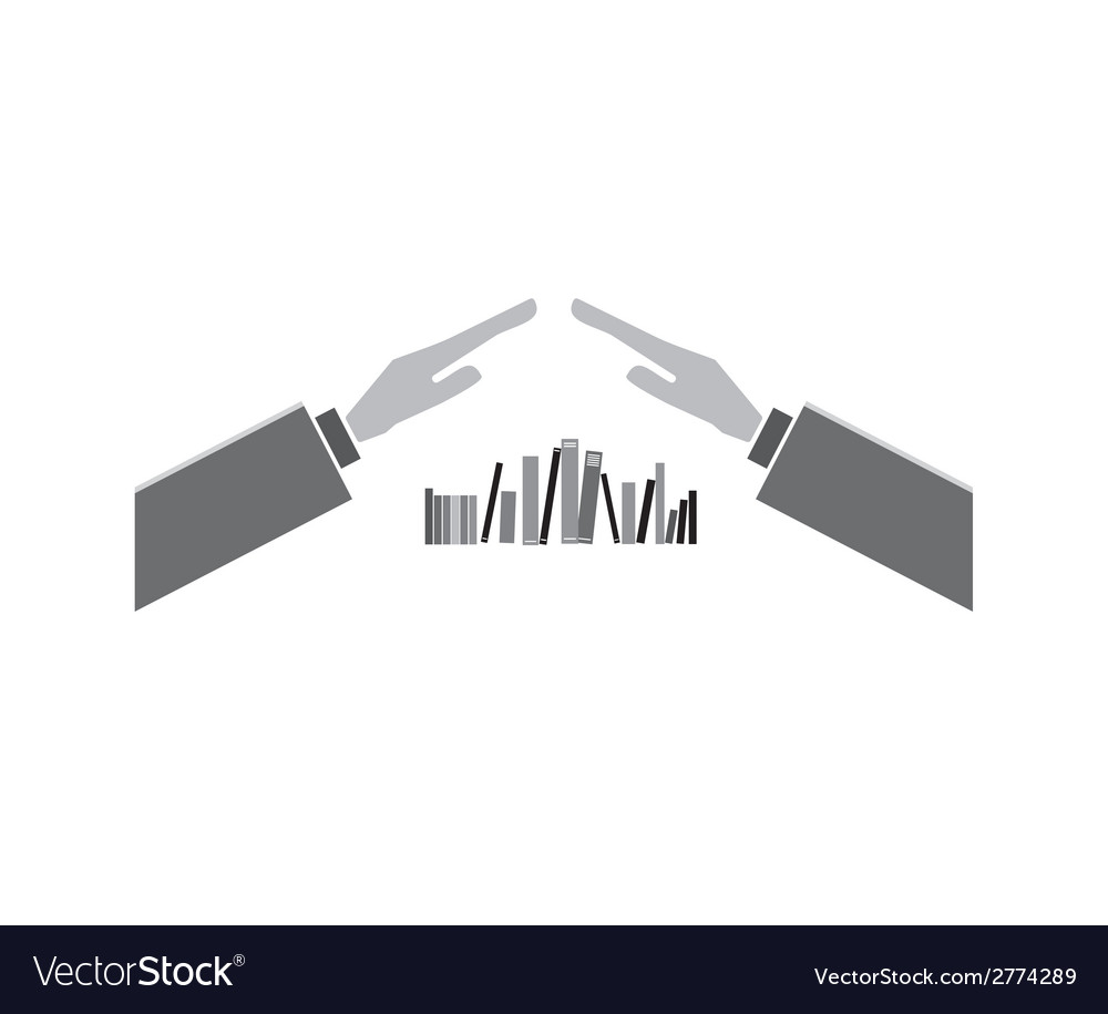 Books with hands vector | Price: 1 Credit (USD $1)