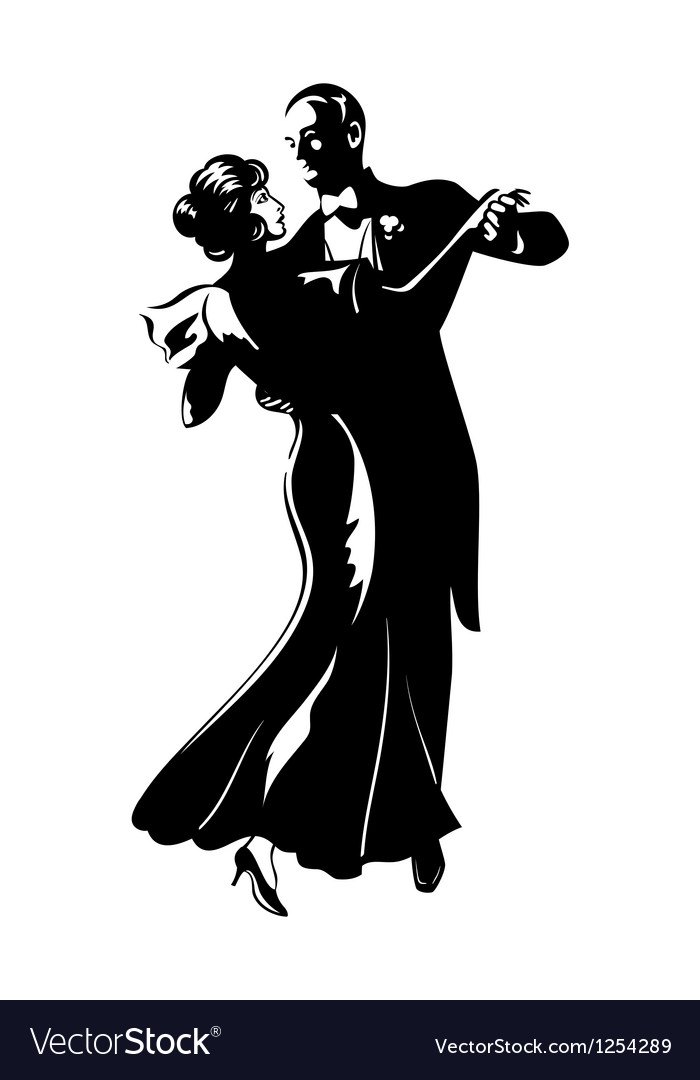 Dancing pair vector | Price: 3 Credit (USD $3)