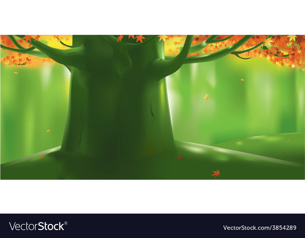 Deep forest tree at autumn vector | Price: 1 Credit (USD $1)