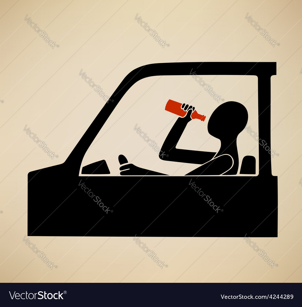 Drunk driving vector | Price: 1 Credit (USD $1)