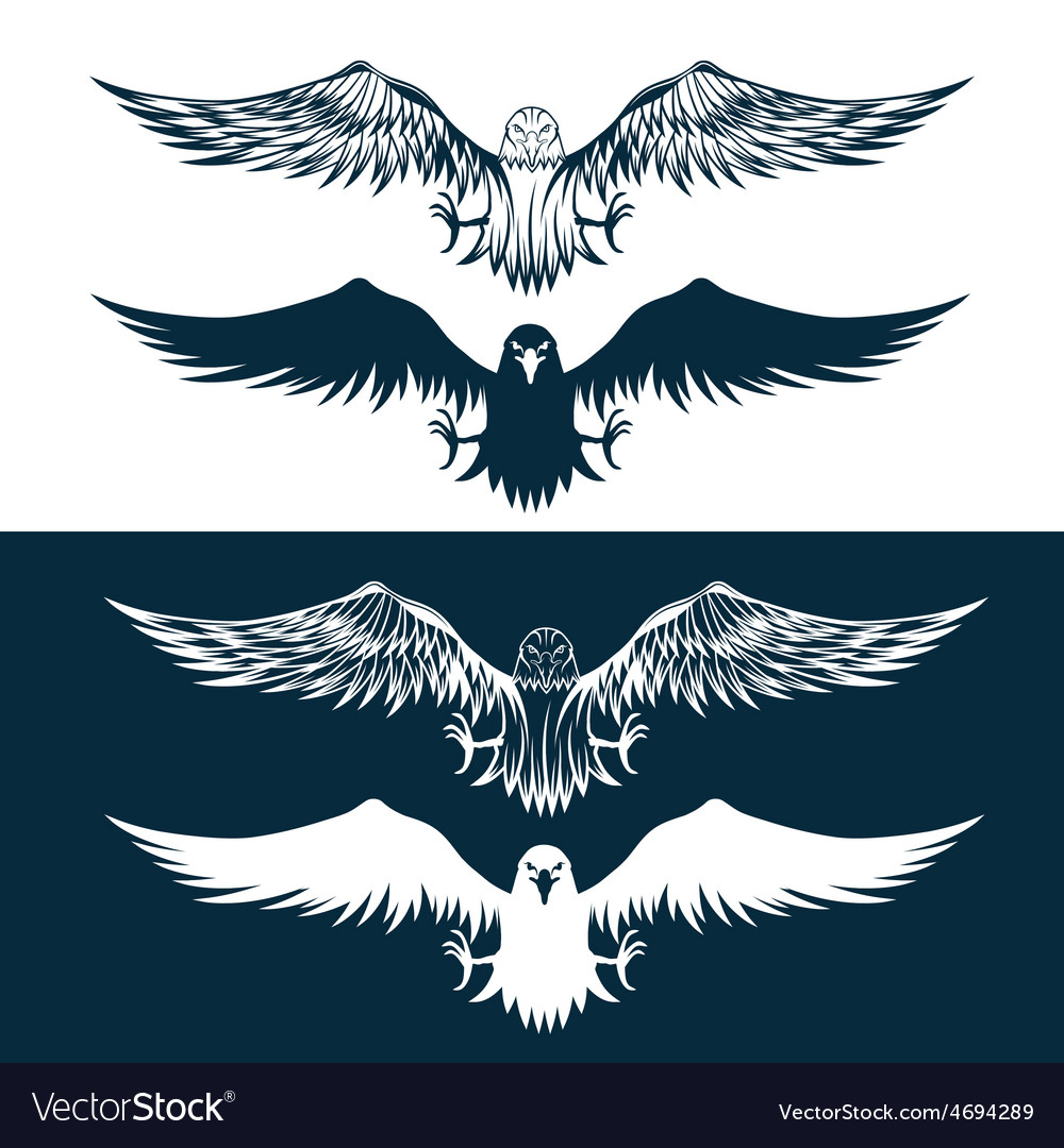 Eagles set design template vector | Price: 1 Credit (USD $1)