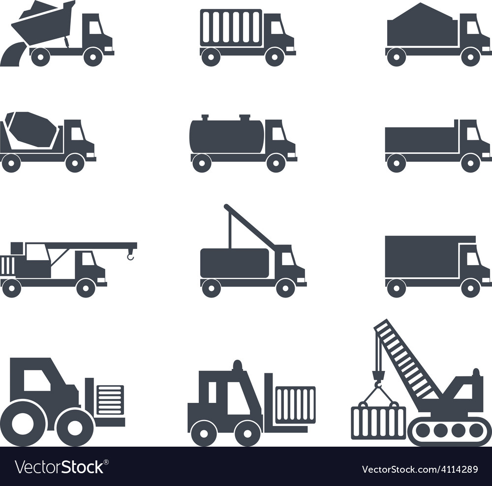 Icon emblem sign symbol logo car truck vector | Price: 1 Credit (USD $1)
