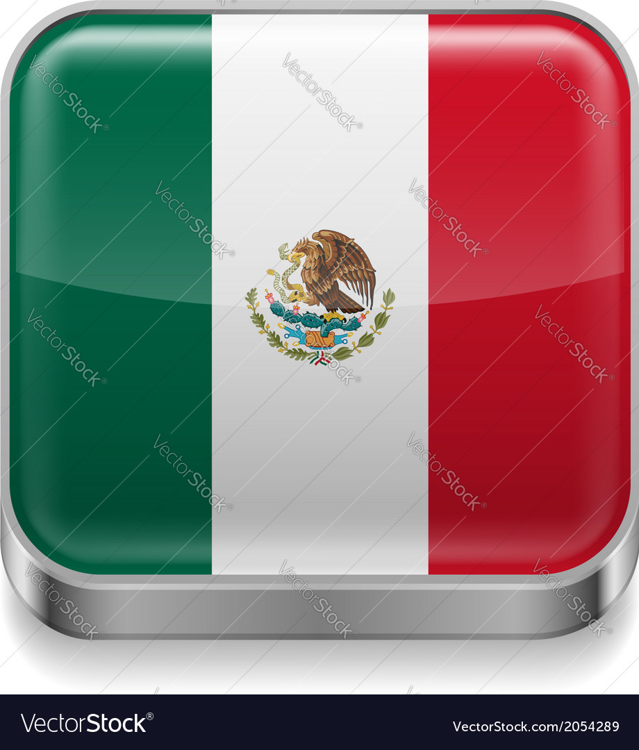 Metal icon of mexico vector | Price: 1 Credit (USD $1)