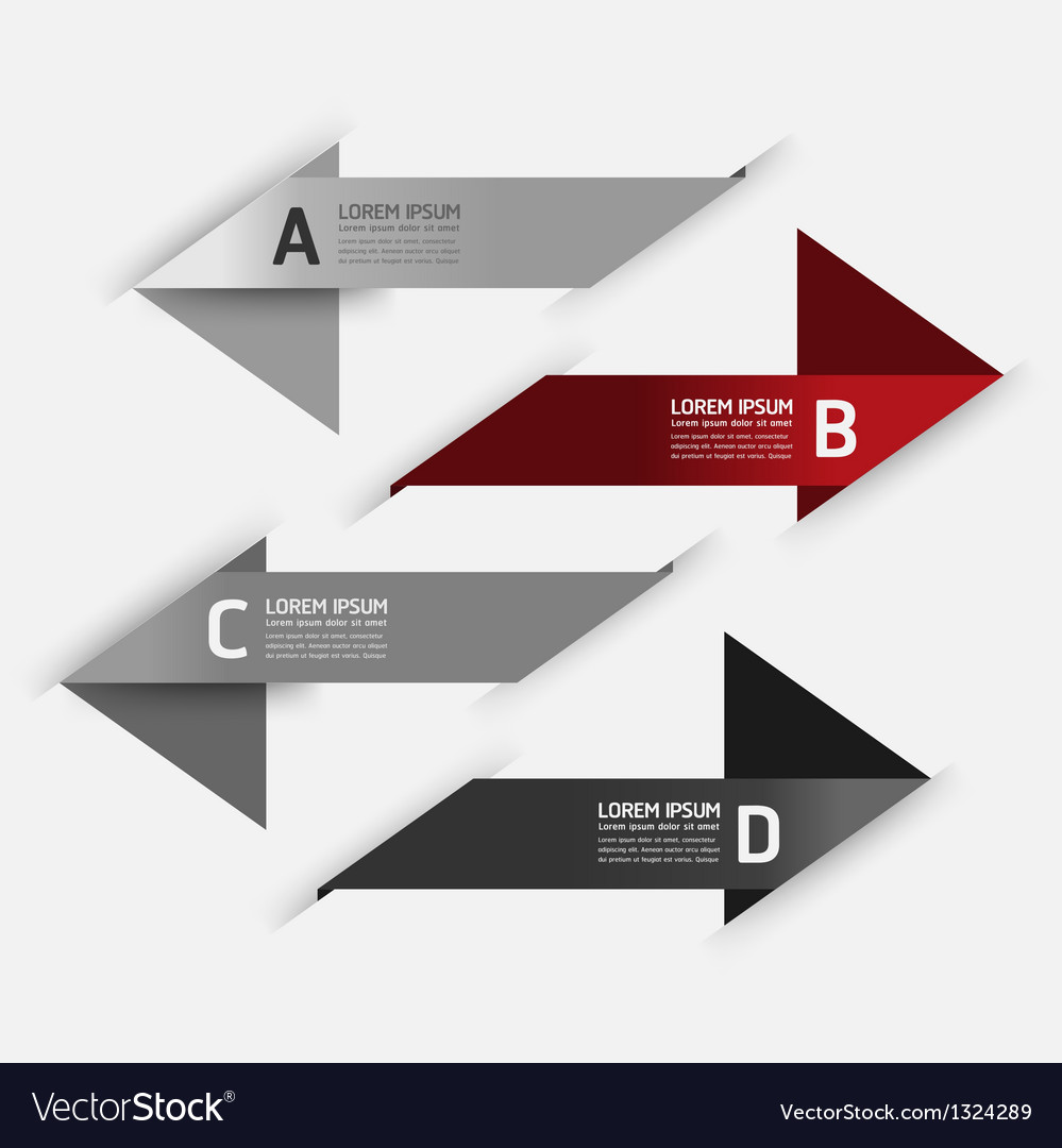 Modern design template number banners vector | Price: 1 Credit (USD $1)