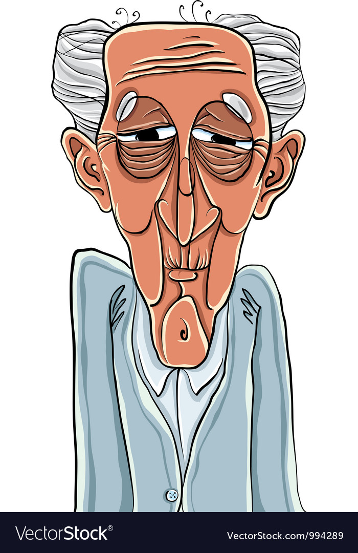 Old man cartoon style vector | Price: 3 Credit (USD $3)