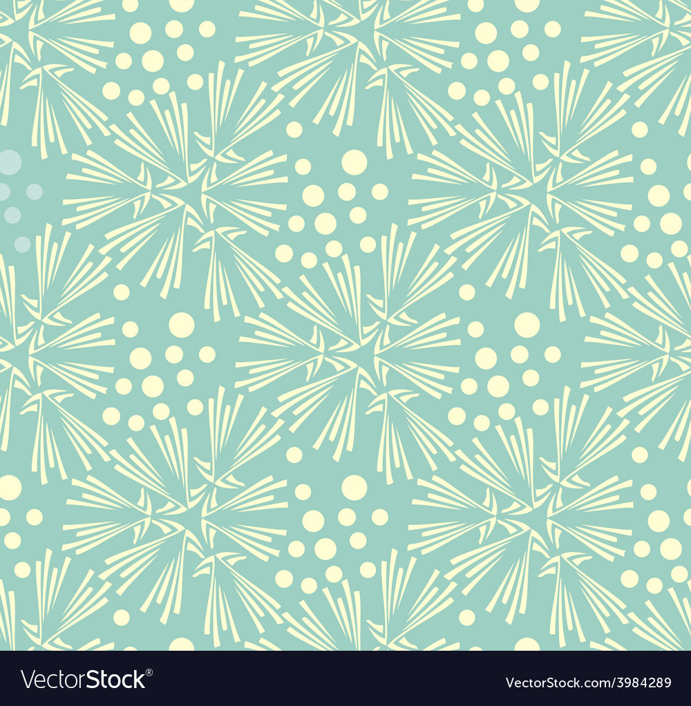 Ornate seamless pattern with the leaves vector | Price: 1 Credit (USD $1)