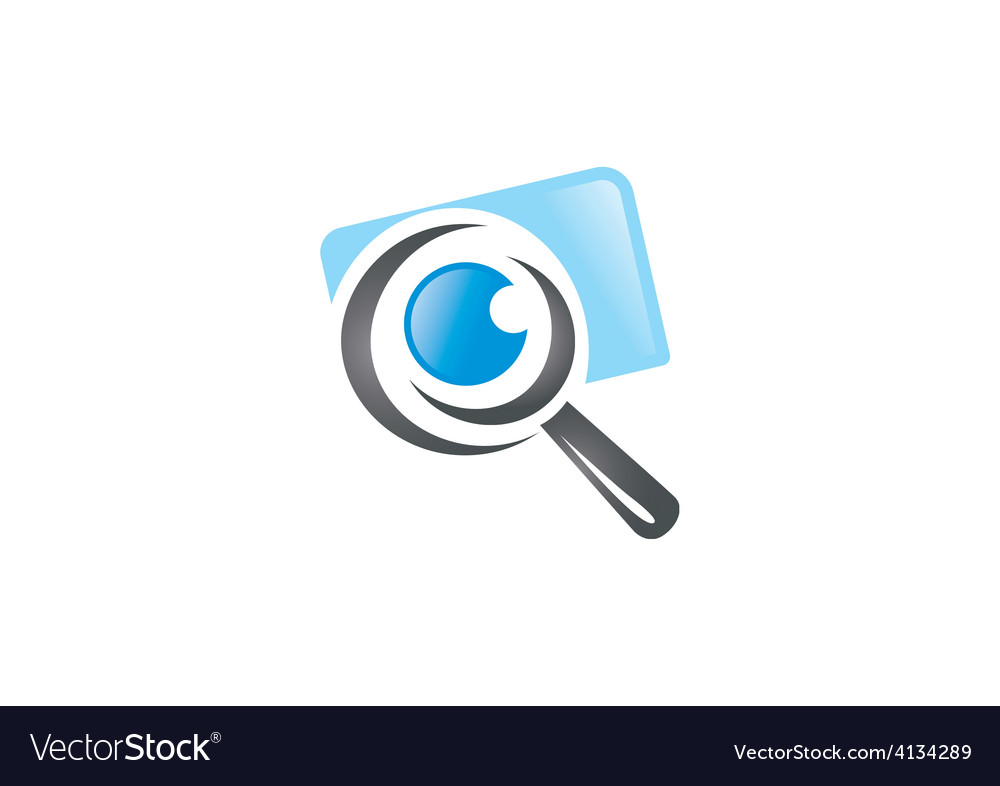 Photo finder search camera logo vector | Price: 1 Credit (USD $1)