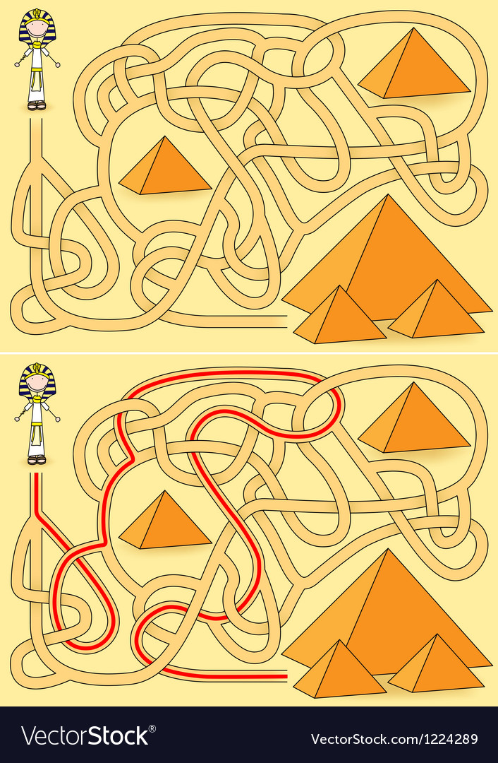 Pyramid maze vector | Price: 1 Credit (USD $1)