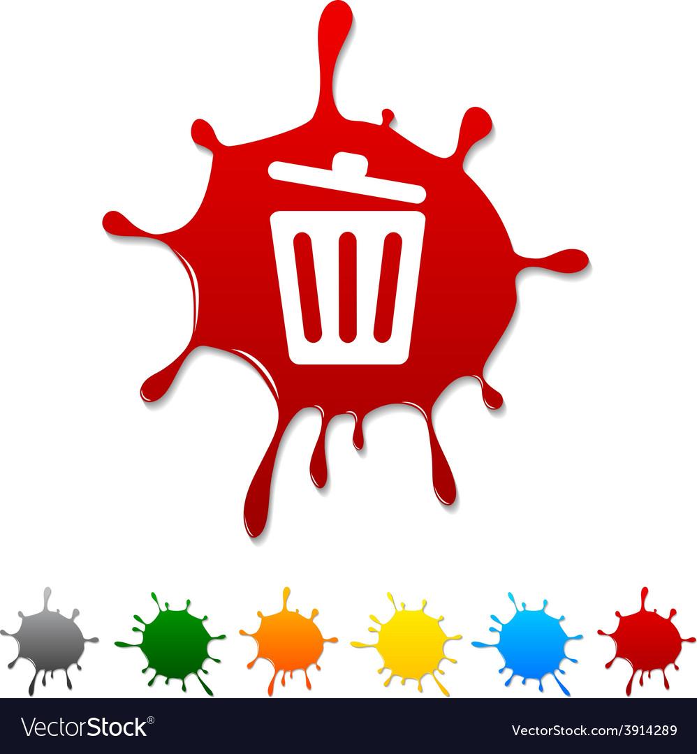 Recycle bin blot vector | Price: 1 Credit (USD $1)