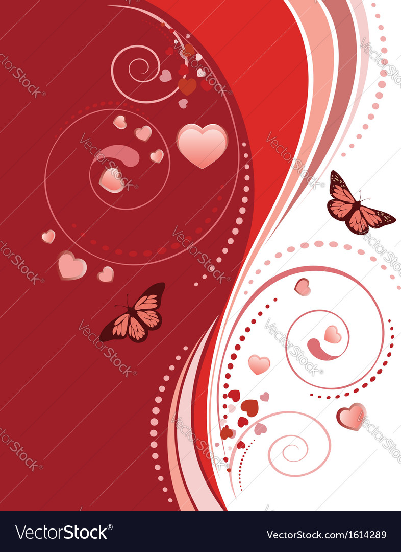 Red swirl ornament vector | Price: 1 Credit (USD $1)