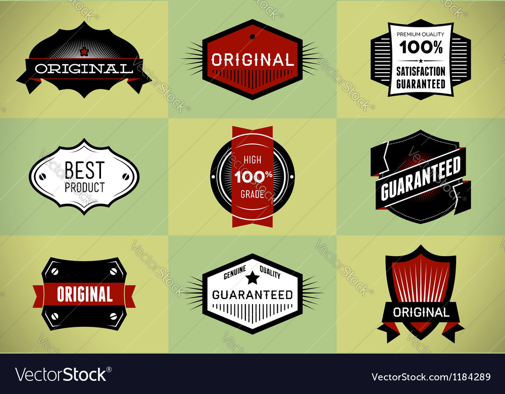 Set of original and premium labels vector | Price: 1 Credit (USD $1)