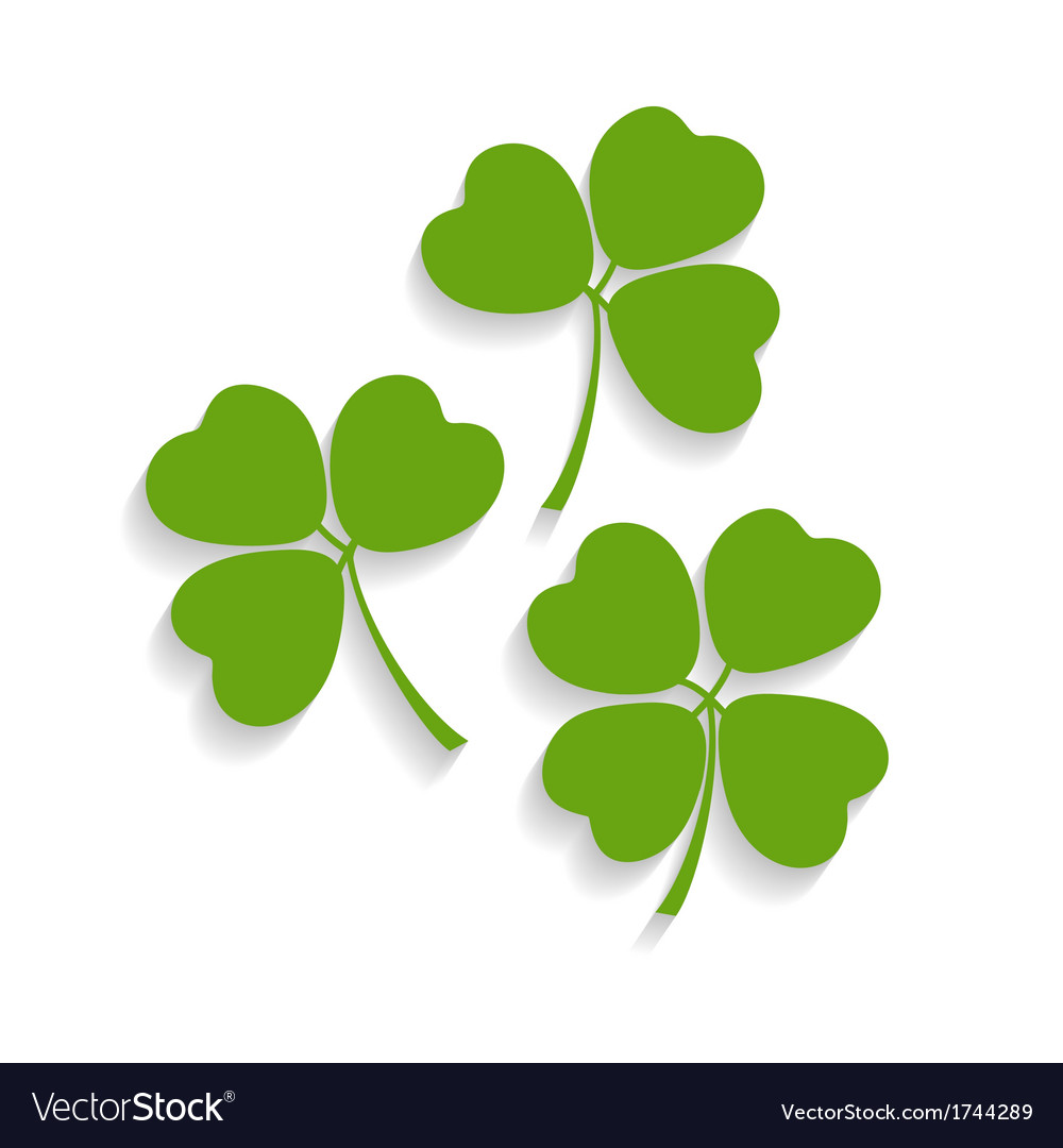 Shamrocks and the four leaf clover vector | Price: 1 Credit (USD $1)