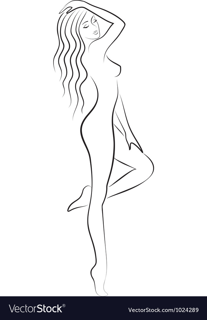 Sketch of nacked woman vector | Price: 1 Credit (USD $1)