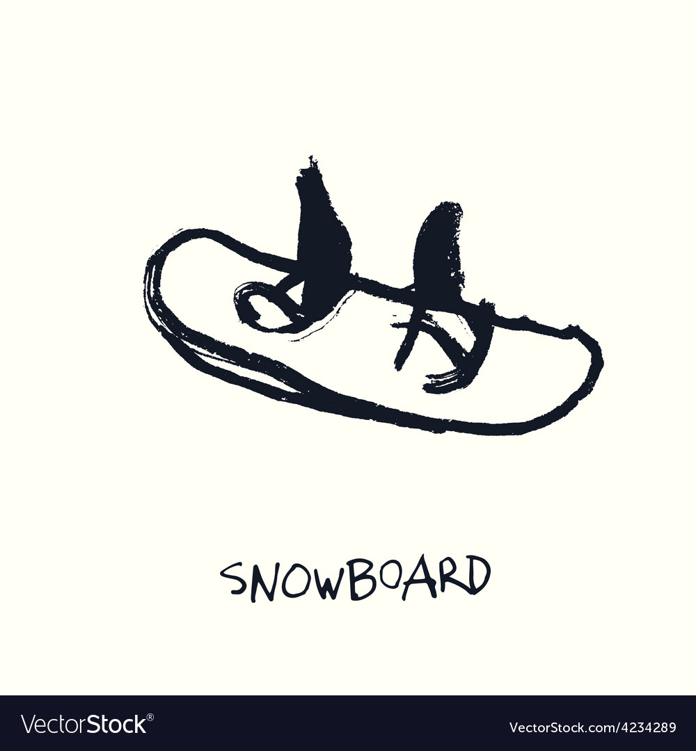 Snowboard hand drawn vector | Price: 1 Credit (USD $1)