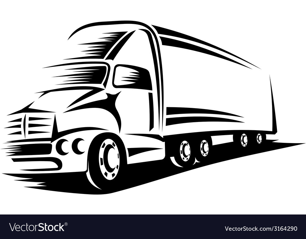 Big truck vector | Price: 1 Credit (USD $1)