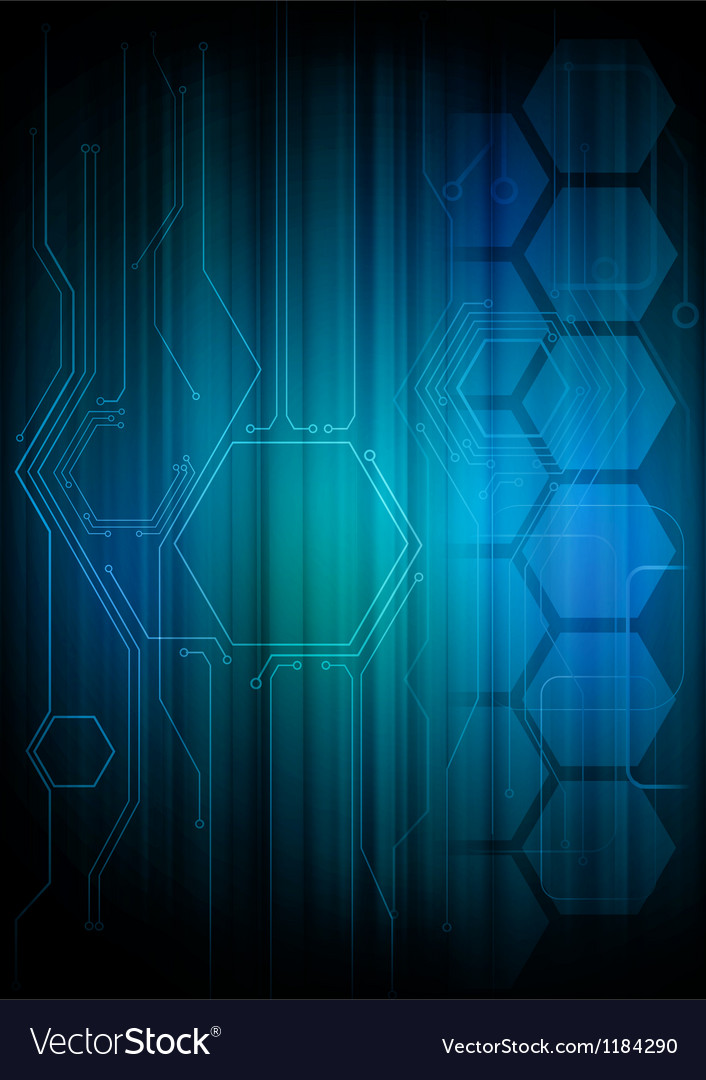 Digital honeycomb background vector | Price: 1 Credit (USD $1)
