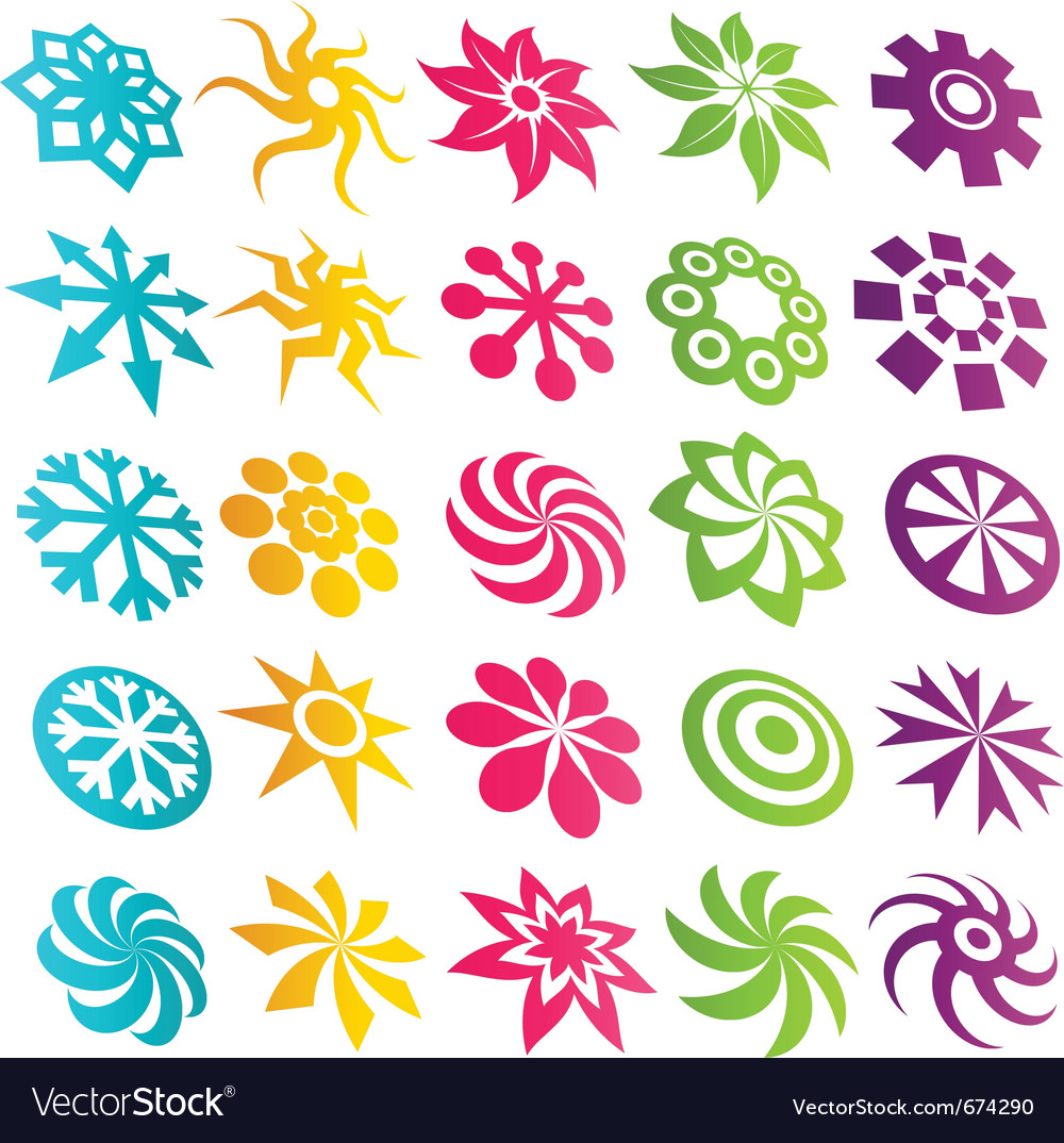 Element icons vector | Price: 1 Credit (USD $1)