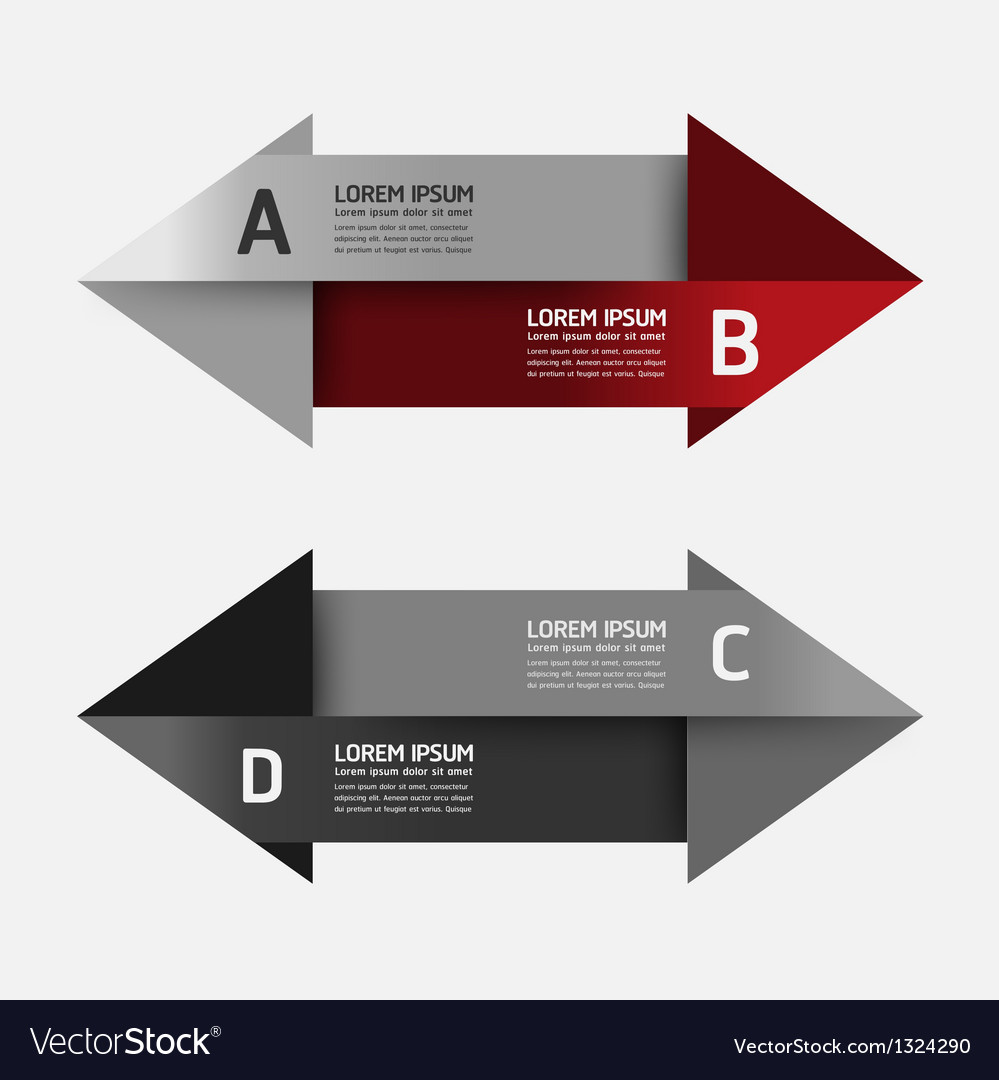 Modern design template arrow banners vector | Price: 1 Credit (USD $1)