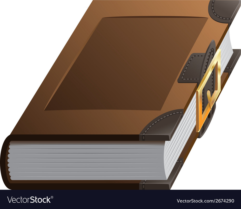 Old thick book with clasp vector | Price: 1 Credit (USD $1)