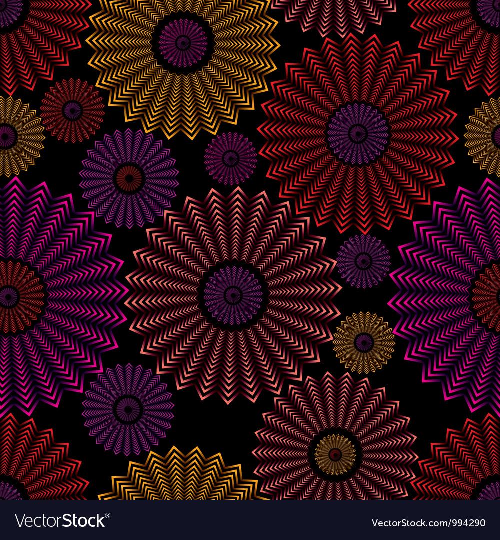 Ornate circles seamless pattern vector | Price: 1 Credit (USD $1)